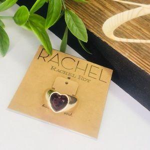 ✨  Rachel Roy Gold Tone Heart Cocktail Ring 7